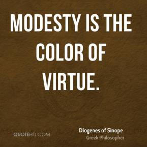 Modesty is the color of virtue.