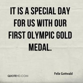 Felix Gottwald - It is a special day for us with our first Olympic gold medal.