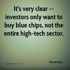 It's very clear -- investors only want to buy blue chips, not the entire high-tech sector.