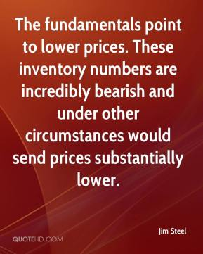Jim Steel  - The fundamentals point to lower prices. These inventory numbers are incredibly bearish and under other circumstances would send prices substantially lower.
