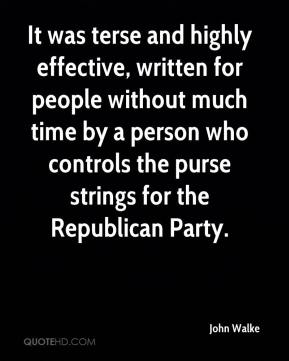 It was terse and highly effective, written for people without much time by a person who controls the purse strings for the Republican Party.