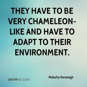 Malachy Kavanagh  - They have to be very chameleon-like and have to adapt to their environment.