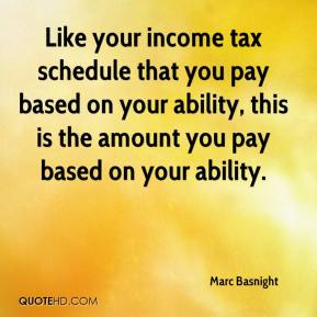 Marc Basnight  - Like your income tax schedule that you pay based on your ability, this is the amount you pay based on your ability.