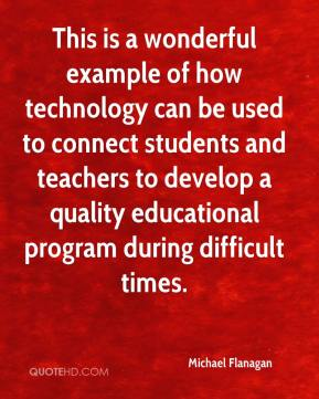 Michael Flanagan  - This is a wonderful example of how technology can be used to connect students and teachers to develop a quality educational program during difficult times.