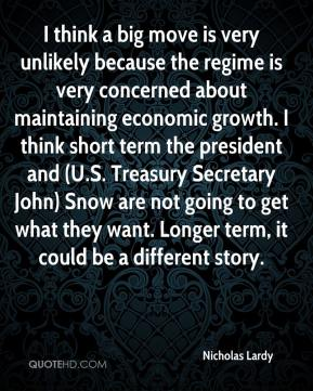 Nicholas Lardy  - I think a big move is very unlikely because the regime is very concerned about maintaining economic growth. I think short term the president and (U.S. Treasury Secretary John) Snow are not going to get what they want. Longer term, it could be a different story.