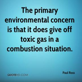 Paul Ross  - The primary environmental concern is that it does give off toxic gas in a combustion situation.