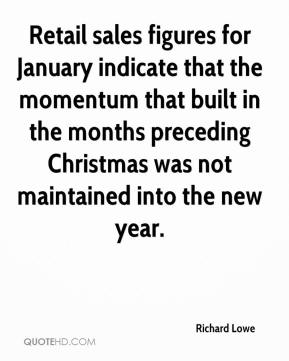 Richard Lowe  - Retail sales figures for January indicate that the momentum that built in the months preceding Christmas was not maintained into the new year.