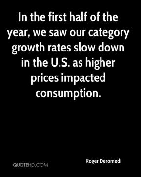Roger Deromedi  - In the first half of the year, we saw our category growth rates slow down in the U.S. as higher prices impacted consumption.
