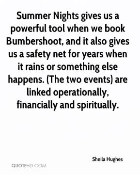 Summer Nights gives us a powerful tool when we book Bumbershoot, and it also gives us a safety net for years when it rains or something else happens. (The two events) are linked operationally, financially and spiritually.