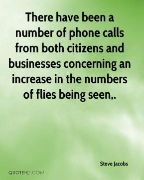 Steve Jacobs  - There have been a number of phone calls from both citizens and businesses concerning an increase in the numbers of flies being seen.