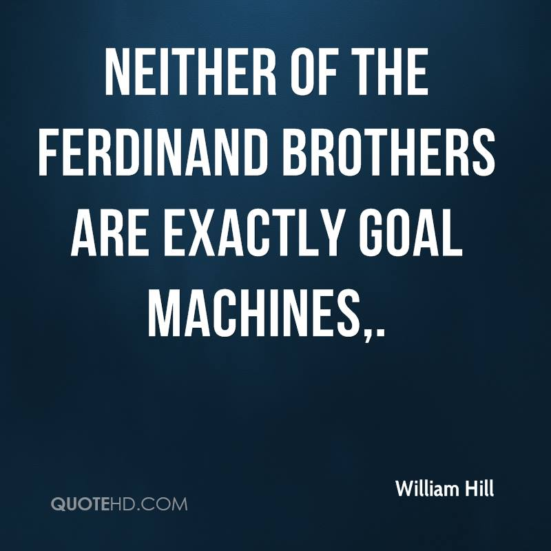 Neither of the Ferdinand brothers are exactly goal machines.