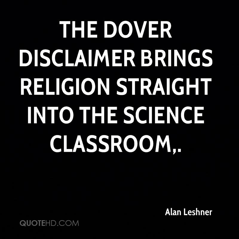The Dover disclaimer brings religion straight into the science classroom.