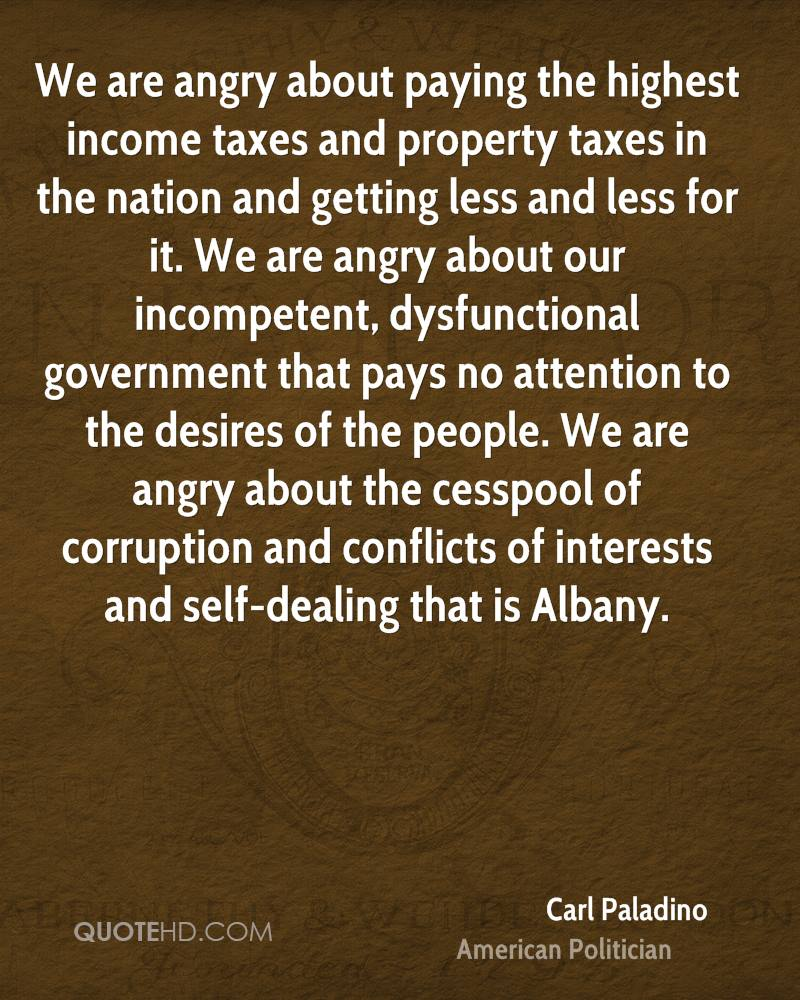 Quotes About Taxes Carl Paladino Quotes  Quotehd