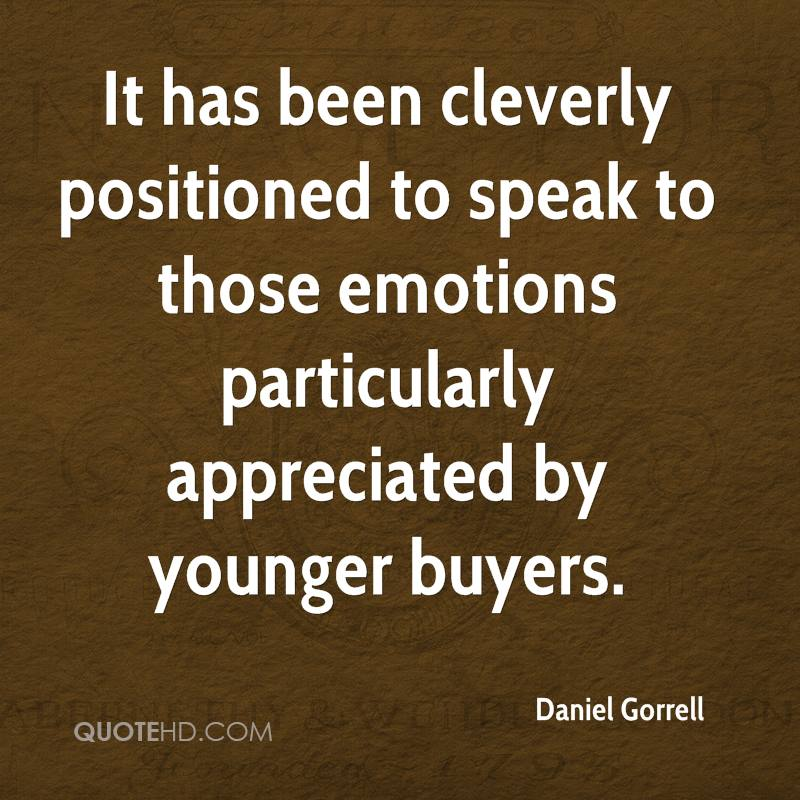 It has been cleverly positioned to speak to those emotions particularly appreciated by younger buyers.