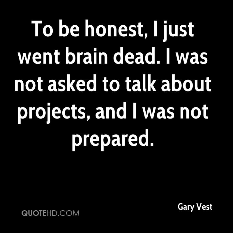 To be honest, I just went brain dead. I was not asked to talk about projects, and I was not prepared.