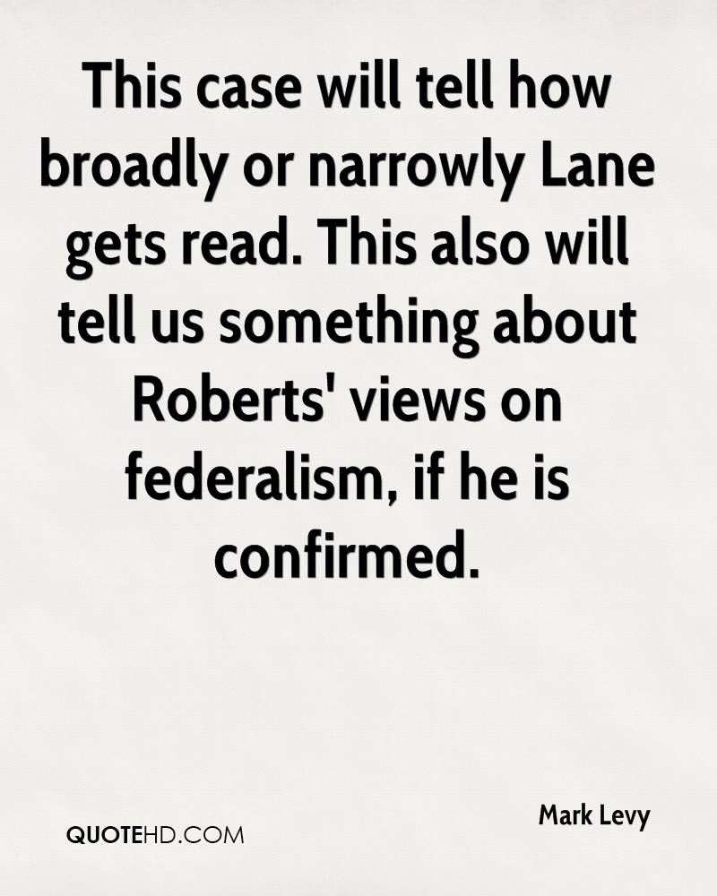 This case will tell how broadly or narrowly Lane gets read. This also will tell us something about Roberts' views on federalism, if he is confirmed.
