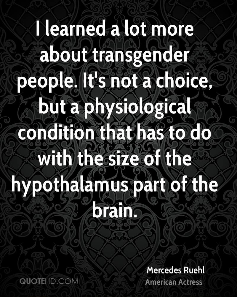 from Chad brain development in transgender people
