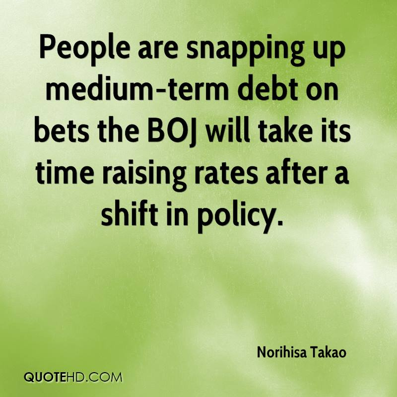 People are snapping up medium-term debt on bets the BOJ will take its time raising rates after a shift in policy.