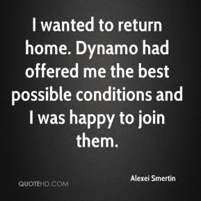 Alexei Smertin - I wanted to return home. Dynamo had offered me the best possible conditions and I was happy to join them.