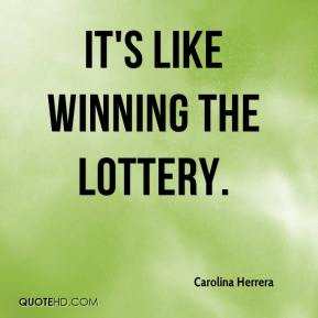 what is it like winnig the lottery