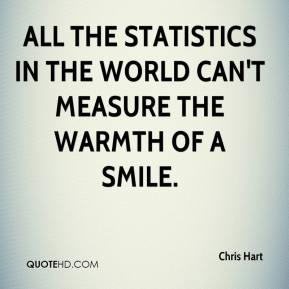 All the statistics in the world can't measure the warmth of a smile.