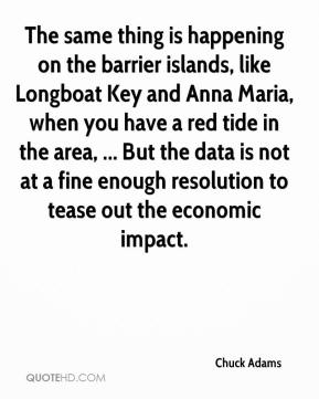 Chuck Adams - The same thing is happening on the barrier islands, like Longboat Key and Anna Maria, when you have a red tide in the area, ... But the data is not at a fine enough resolution to tease out the economic impact.