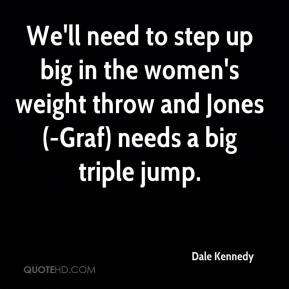 Dale Kennedy - We'll need to step up big in the women's weight throw and Jones(-Graf) needs a big triple jump.