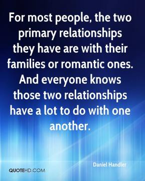 For most people, the two primary relationships they have are with their families or romantic ones. And everyone knows those two relationships have a lot to do with one another.