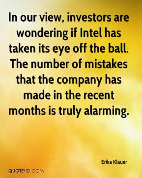 In our view, investors are wondering if Intel has taken its eye off the ball. The number of mistakes that the company has made in the recent months is truly alarming.