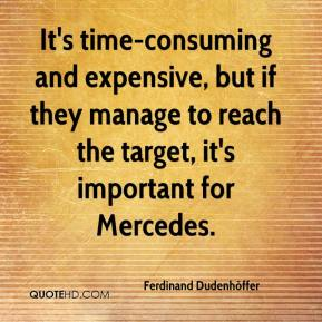 Ferdinand Dudenhöffer - It's time-consuming and expensive, but if they manage to reach the target, it's important for Mercedes.