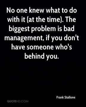 No one knew what to do with it (at the time). The biggest problem is bad management, if you don't have someone who's behind you.