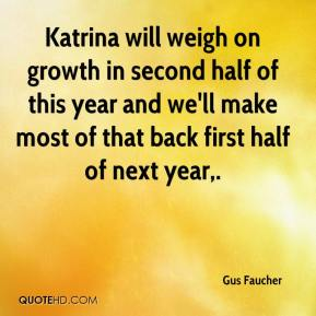Gus Faucher - Katrina will weigh on growth in second half of this year and we'll make most of that back first half of next year.
