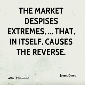 James Dines - The market despises extremes, ... That, in itself, causes the reverse.