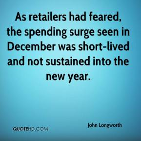 As retailers had feared, the spending surge seen in December was short-lived and not sustained into the new year.
