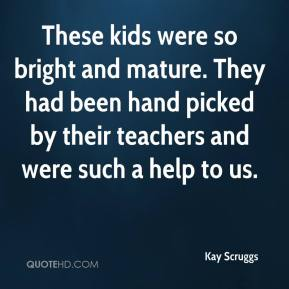 These kids were so bright and mature. They had been hand picked by their teachers and were such a help to us.