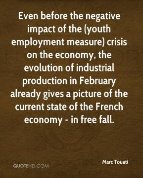 Marc Touati  - Even before the negative impact of the (youth employment measure) crisis on the economy, the evolution of industrial production in February already gives a picture of the current state of the French economy - in free fall.