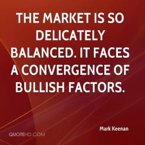 Mark Keenan  - The market is so delicately balanced. It faces a convergence of bullish factors.