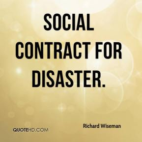social contract for disaster.