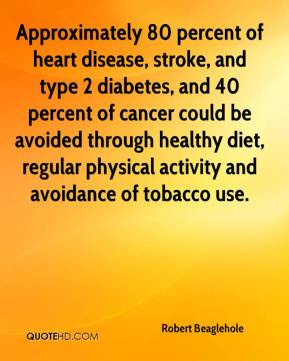 Percent of heart disease stroke and type 2 diabetes and 40 percent