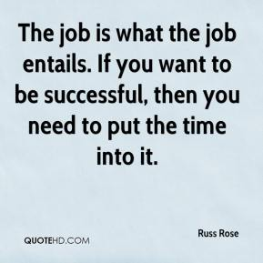 The job is what the job entails. If you want to be successful, then you need to put the time into it.