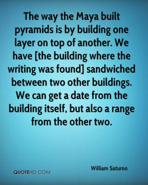 The way the Maya built pyramids is by building one layer on top of another. We have [the building where the writing was found] sandwiched between two other buildings. We can get a date from the building itself, but also a range from the other two.