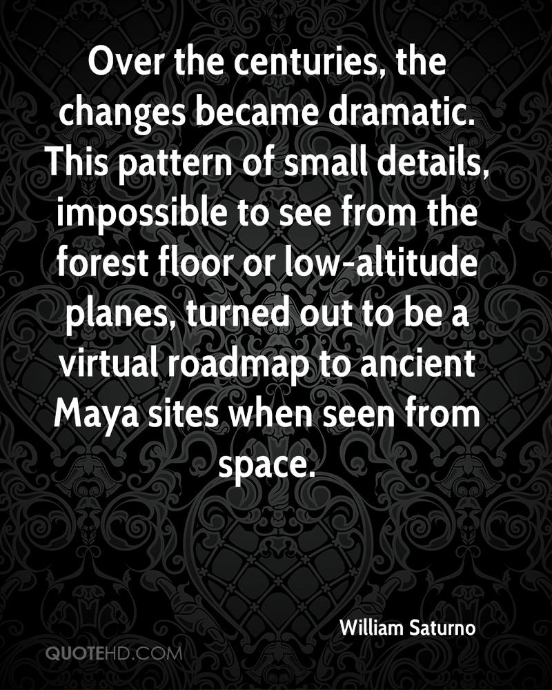 Over the centuries, the changes became dramatic. This pattern of small details, impossible to see from the forest floor or low-altitude planes, turned out to be a virtual roadmap to ancient Maya sites when seen from space.