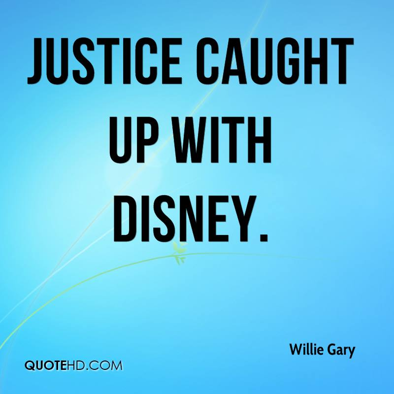 Justice caught up with Disney.