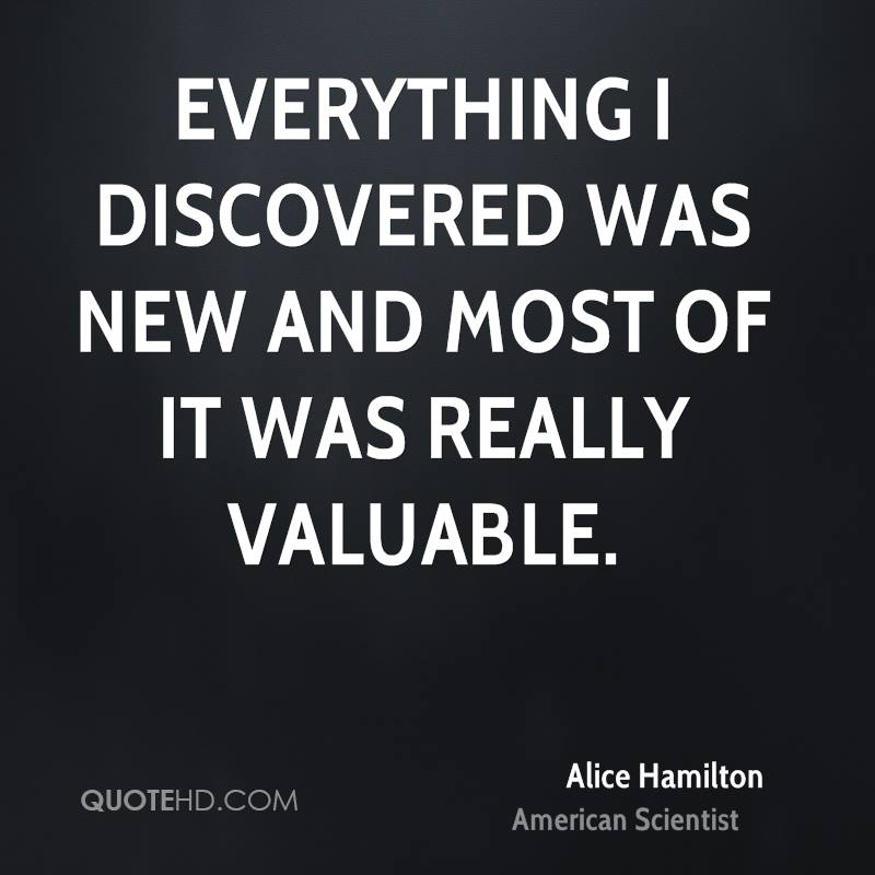 Everything I discovered was new and most of it was really valuable.