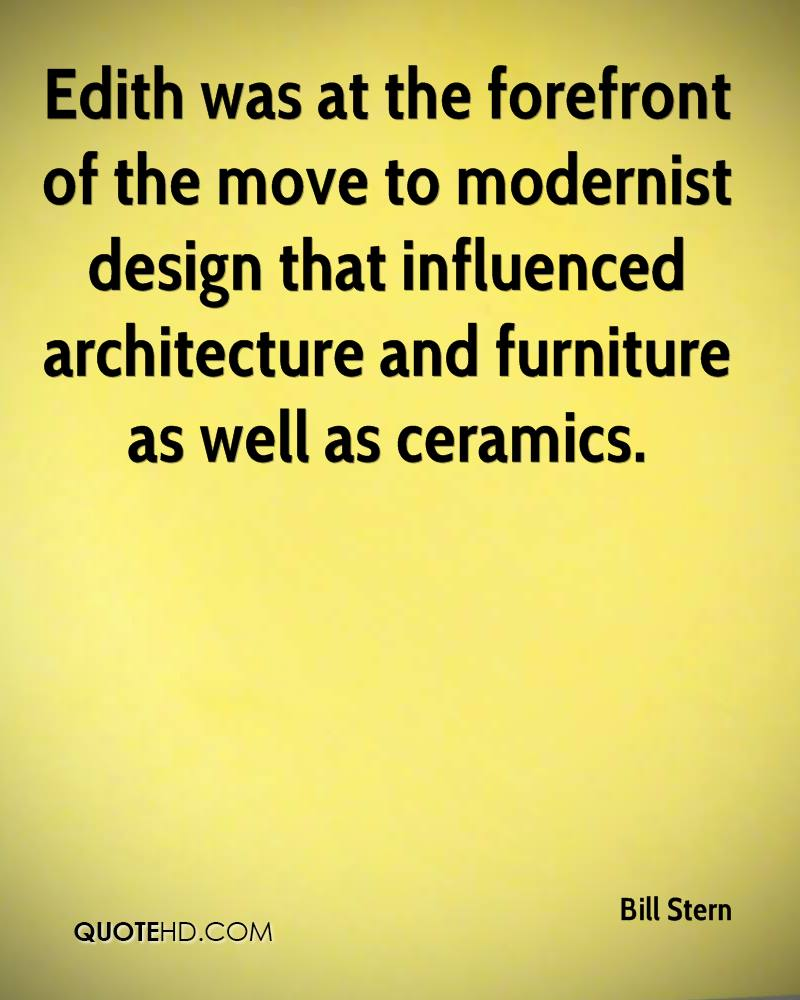 Edith was at the forefront of the move to modernist design that influenced architecture and furniture as well as ceramics.