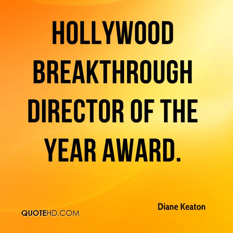 Hollywood Breakthrough Director of the Year Award.