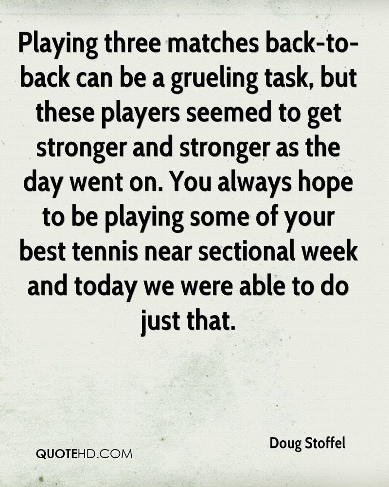 Playing three matches back-to-back can be a grueling task, but these players seemed to get stronger and stronger as the day went on. You always hope to be playing some of your best tennis near sectional week and today we were able to do just that.