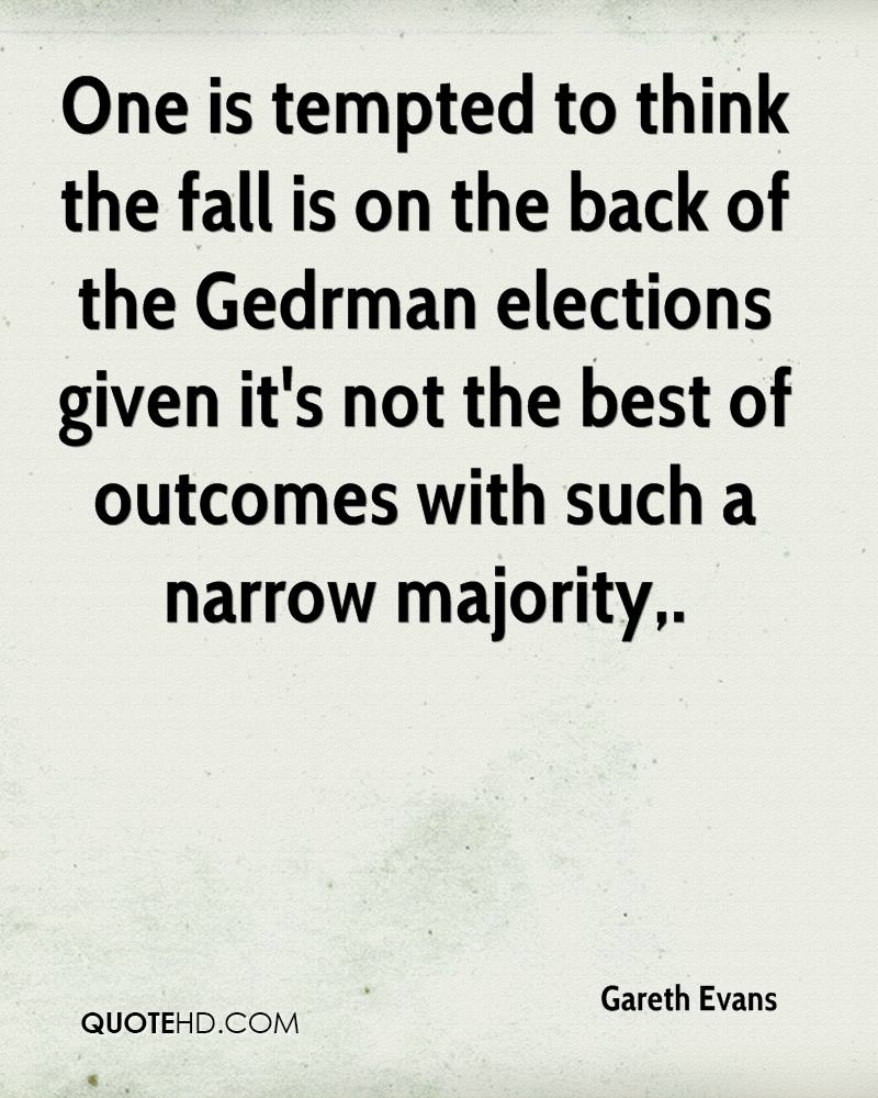 One is tempted to think the fall is on the back of the Gedrman elections given it's not the best of outcomes with such a narrow majority.