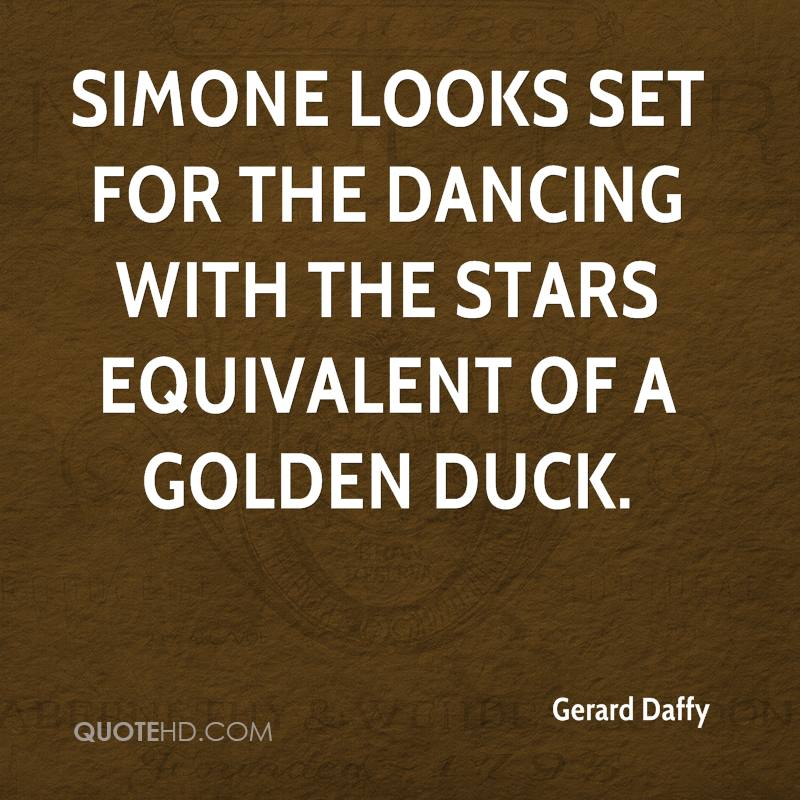 Simone looks set for the Dancing with the Stars equivalent of a golden duck.