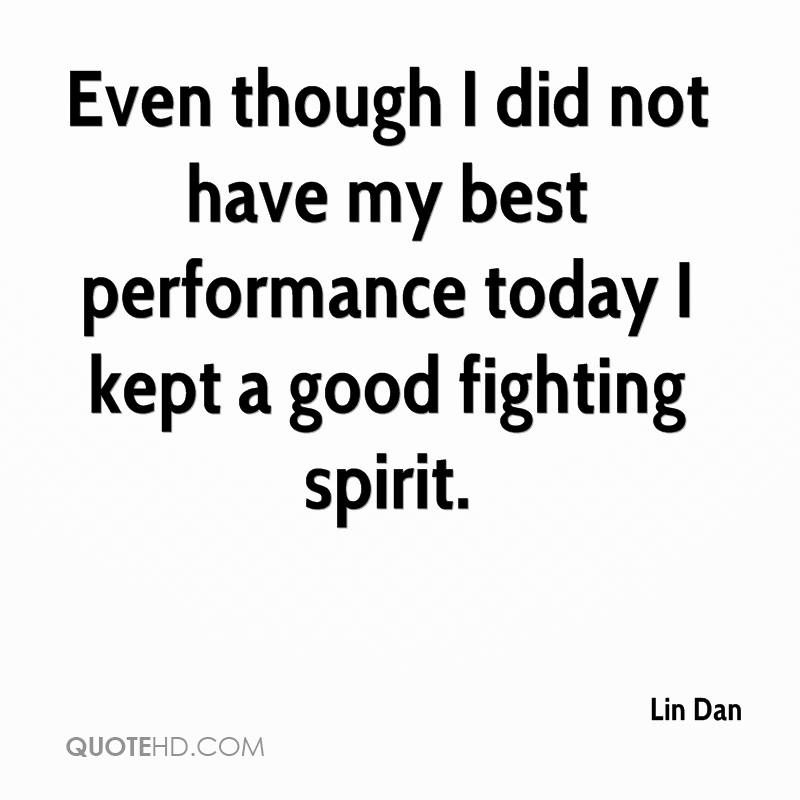 Even though I did not have my best performance today I kept a good fighting spirit.